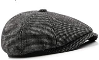 2884cebfcdd26 Ron Kite Old Men Winter Flat Cap Outdoor Thick Warm Male Earflap Beret  Casual Newsboy Style
