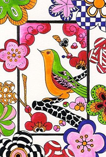 カレイドラインズ カラーリング カード セット 花柄 KLCC-2
