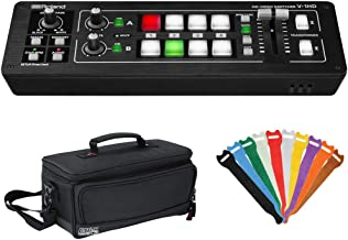 Roland V-1HD Portable 4 x HDMI Input Switcher with Padded Mixer Bag & 0.5 x 6 Touch Fastener Straps Bundle