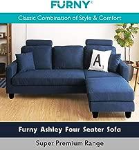 Furny Ashley Four Seater Sectional Sofa (Blue)