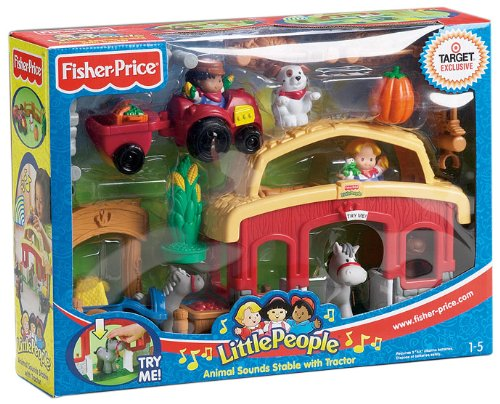Fisher Price H1638 - Little People - Pferdestall mit Traktor und Sound