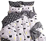 spiderman quilt - Mengersi Black Bed Pillowcase Duvet Cover Quilt Cover Set (Twin)