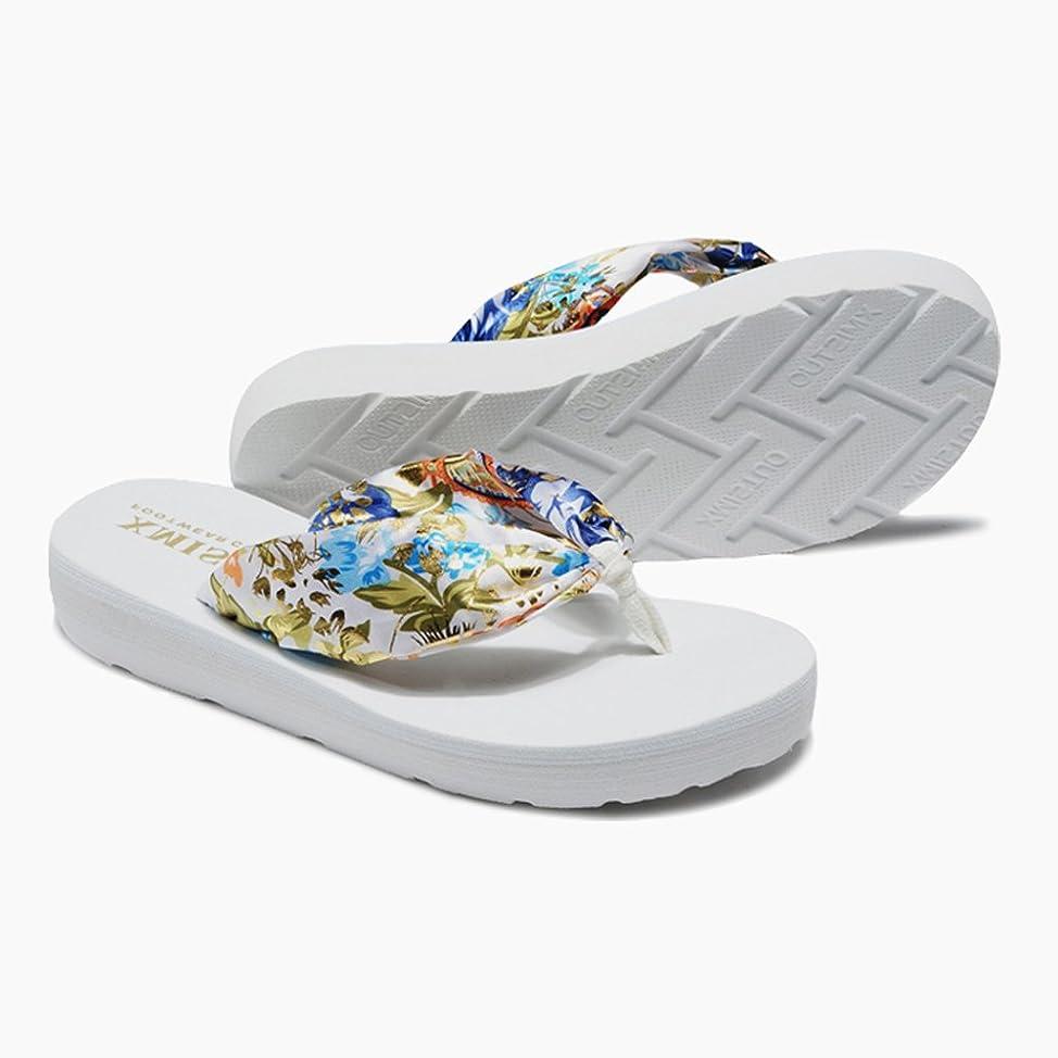 スチュアート島ポータル縞模様の女性のスリッパ夏の厚い底滑りやすいかわいい女性のビーチの靴休日のサンダル ( 色 : 3 , サイズ さいず : US:7.5\UK:6.5\EUR:40 )