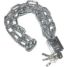 WXYZ Keyed Padlocks Fiets Anti-diefstal kettingslot, waterdicht en anti-diefstal veiligheidsslot, kettinglengte 0,5 m, 0,8...