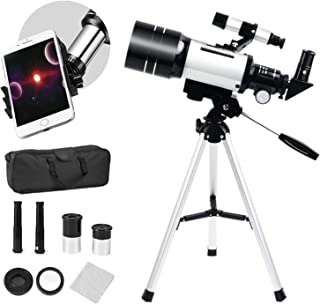 SEAAN Telescopio Astronómico para Niños para Principiantes 150X ~ 15X, telescopio HD de 70 mm, telescopio de Inicio con tr...