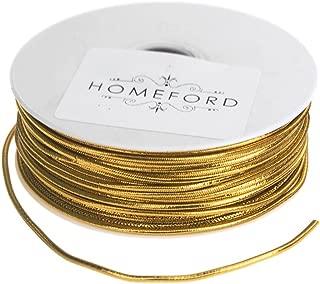 Per 15m Spool 9mm Wide Metallic Ribbon Gold