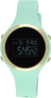 Moulin Ladies Pastel Color Digital Jelly Watch Dark Screen Mint #03158-77473