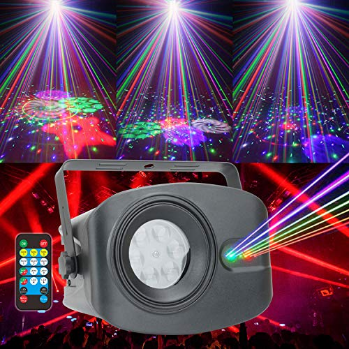 Party Lights DJ Disco Sound Activated Christmas X-MAS Strobe Light Laser Projector for Smoke Machine Stripper Karaoke Adults Trippy Room Decor Speakers Equipment Parties Sync Music Stage Cool Lighting