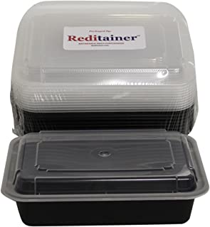 Reditainer Rectangular Food Storage Containers with Lid, 28-Ounce, Package of 12