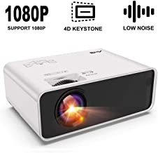 $89 » Mini Projector - Artlii Enjoy Portable Projector with ±45° Digital 4D Keystone Correction, Lower Noise, HIFI Stereo,1080P Support Movie Projector Compatible HDMI Chromecast TV Smartphone Video Games