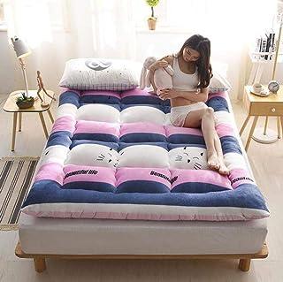 YOLL Colchón Reversible Tatami Japonés Confort futón 90 * 200cm~180 * 200cm Enrollable Funda antialérgica Cubre colchón Cama Plegable Cubre colchón Colchón Portátil Suelo/Cute cat /