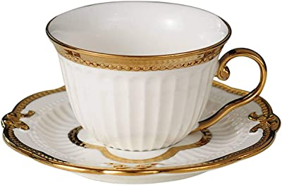 a99e9723d5f FAT BIG CAT Nordic Style Elegant Coffee Cups and Saucers Handmade Ins  Golden Milk Cup Set