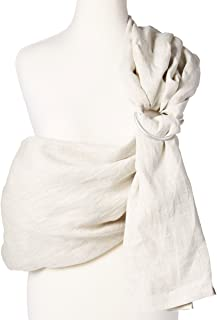 Baby Carrier Ring Sling by Hip Baby Wrap for Newborns, Infants and Toddlers (Oat) - eco-Friendly, Beautiful, 100% Linen - Perfect Baby Show Gift - Great for New mom and dad - Nursing Cover