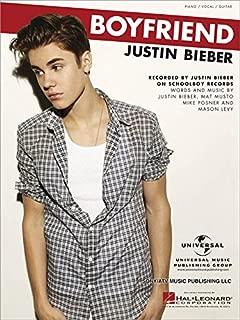 Justin Bieber - Boyfriend (Piano Vocal Sheet Music)