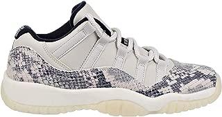 Air Jordan 11 Retro Low LE GS Big Kids' Shoes Light Bone/University Red/Sail cd6847-002