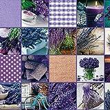 Meterware Wachstuch violett Größe 140 cm breit