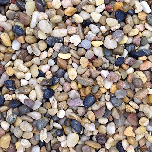 Acuario de Color Natural Stones Pebbles sustrato Grava, 0,5 – 1 cm,