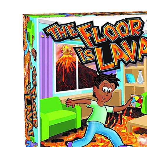 The Floor Is Lava Interactive Board Game for Kids and Adults (Ages 5+), Volcano Card para niños, juego interactivo para niños y adultos - Volcano Board Games Card
