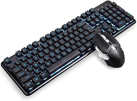 XXF Gaming Keyboard Combo De Ratón, Teclado Impermeable RGB ...