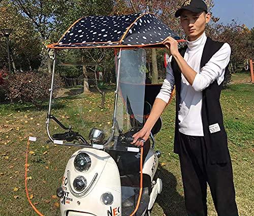 WYB Pabellón eléctrico Impermeable de la Motocicleta del Paraguas, Cubierta eléctrica Universal de la sombrilla de la Motocicleta