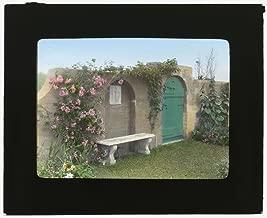Historic Photos 1914 Photo Gray Gardens, Robert Carmer Hill house, Lily Pond Lane, East Hampton, New York. Bench inside northeast gate Location: East Hampton, New York