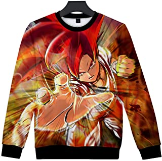Pullover Trend Anime Unisex 3D Color Print Sweater Round Neck Long Sleeve Warm Loose Casual Harajuku Streetwear Sweatshirt