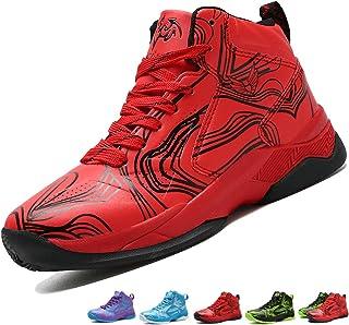 d20e7a23ba LANSEYAOJI Niños Zapatillas de Baloncesto High-Top Al Aire Libre Calzado  Deportivo Moda Lace Up