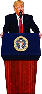 aahs!! Engraving Donald Trump Stand Up | Cardboard Cutout | 6 feet Life Size Standee Picture Poster Photo Print of President | Podium