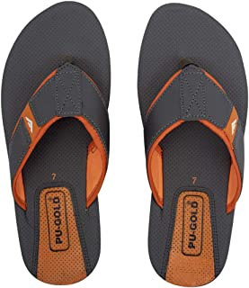 ASIAN 4711 Orange Chappal for Men Casual Slippers for Boys Thong Sandals chappals for Men | Perfect flip Flops Walking UK-9