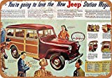 Forry Jeep Car Metall Poster Retro Blechschilder Vintage