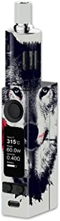 Skin Decal Vinyl Wrap for Joyetech Evic VTC Mini Vape Mod Skins Stickers Cover / Wolf with rose in mouth