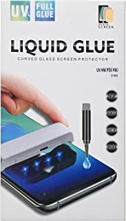 شاشة حماية زجاجية كاملة 9 اتش مع سائل نانو 2 قطعة لهاتف هواوي P30 برو من موبيل سكرين - شفاف