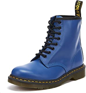 64cf29fb246ec2 Dr. Martens Unisex 1460 Blue Smooth Leather 8 Eyelet Boots 24614400-UK 10 (