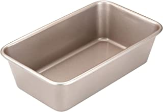 CHEFMADE 9-Inch Rectangle Loaf Pan, Non-Stick Oblong Bread and Meat Bakeware, FDA Approved for Oven Baking (Champagne Gold)