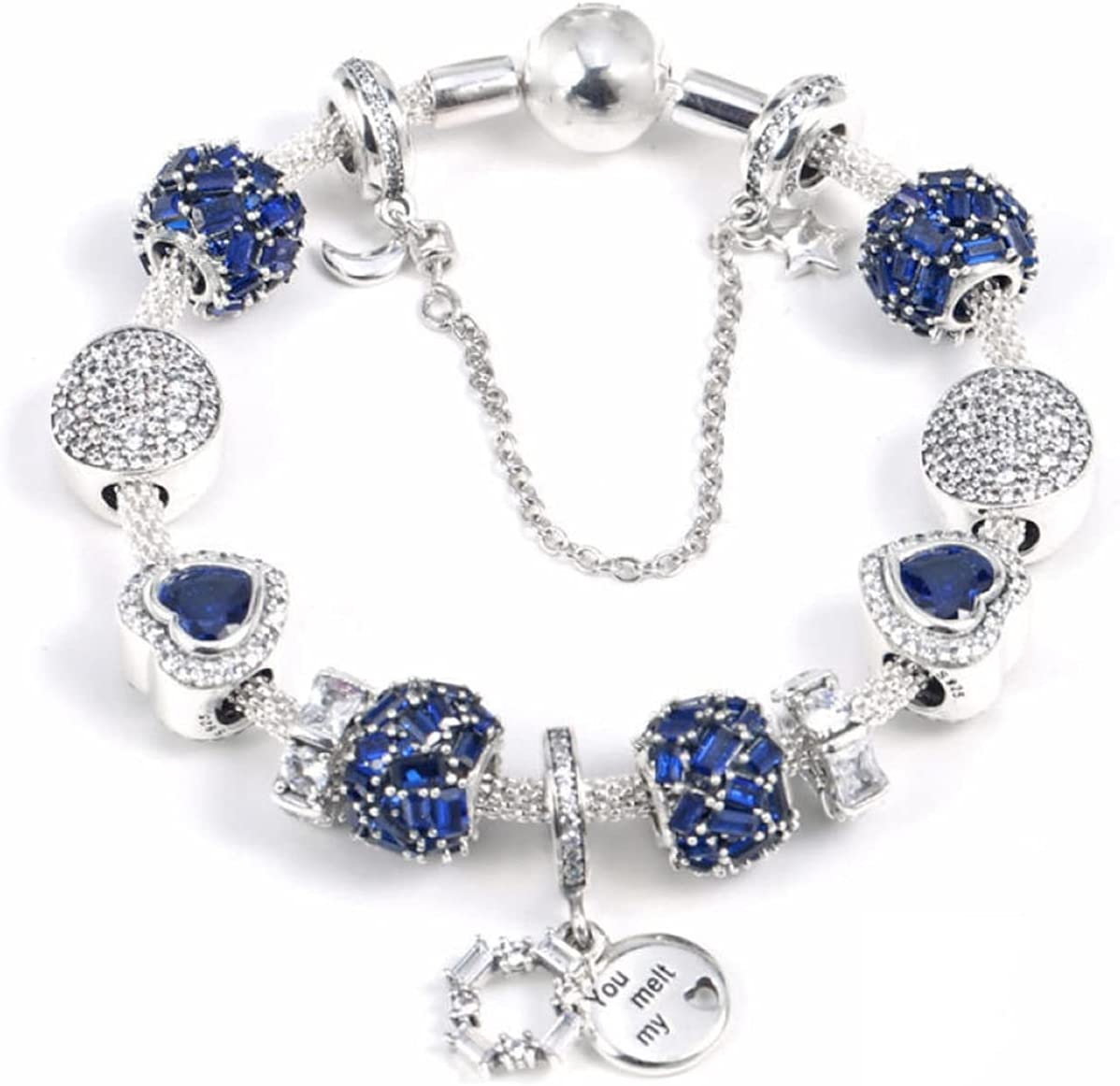 GaYouny 925 Classic Silver Fashion Shine Over item handling ☆ Winter Chain Set Bra Beauty Net