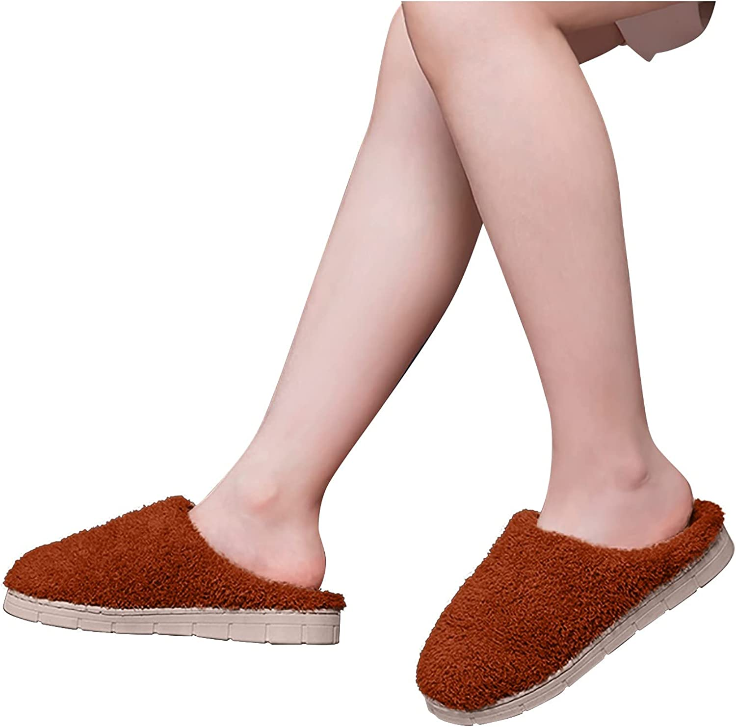 Hunauoo Slippers for Women Cotton Over item handling S Warm Household Outstanding Soft