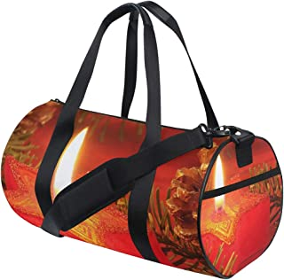 Duffel Bag Christmas Star Candles Women Garment Gym Tote Bag Best Sports Bag for Boys