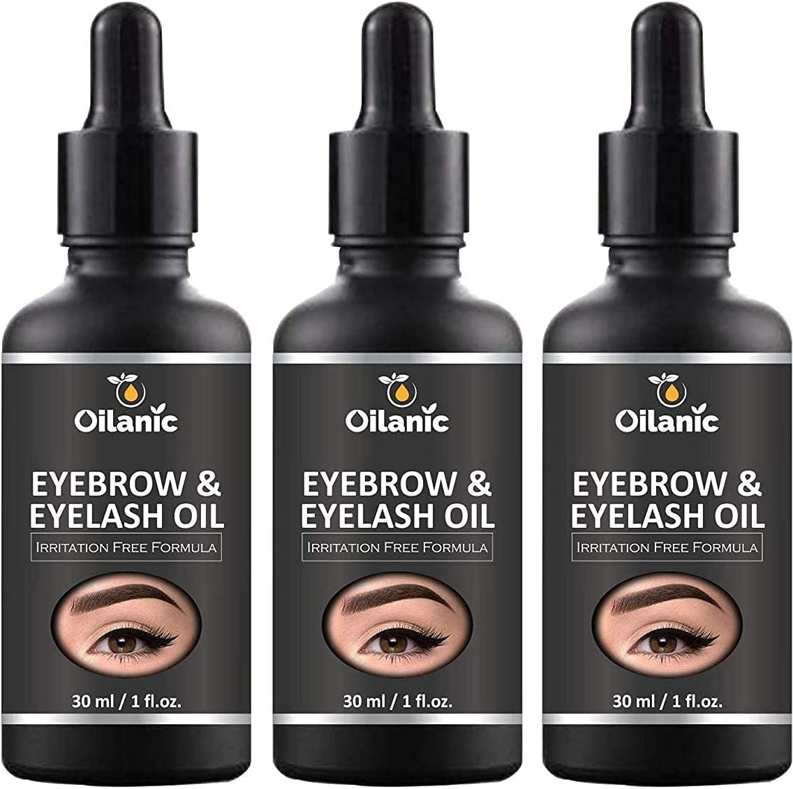 Dayna Oilanic 100% Pure Natural Pa 55% OFF Nashville-Davidson Mall Eyebrow Combo Eyelash Oil