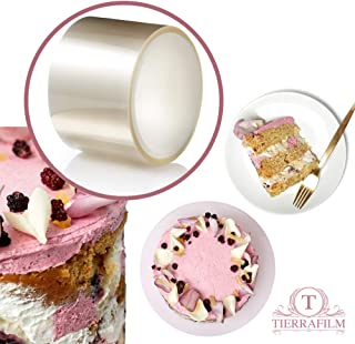 TIERRAFILM Clear Acetate Roll 2 inch High - Cake Collar for Chocolate and Cake Decorating - Used by Top Pastry Chefs (2