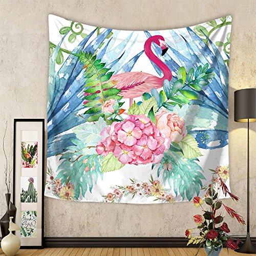 Nature Fleurs Oiseau Tapisserie Murales, Morbuy Tropical Flamant Style Hippie Décoration Tenture Couverture Pique-Nique Polyester Nappe Serviette de Plage Yoga Indienne Tapestry (Grand (150 x 200cm), Flamant fleur)