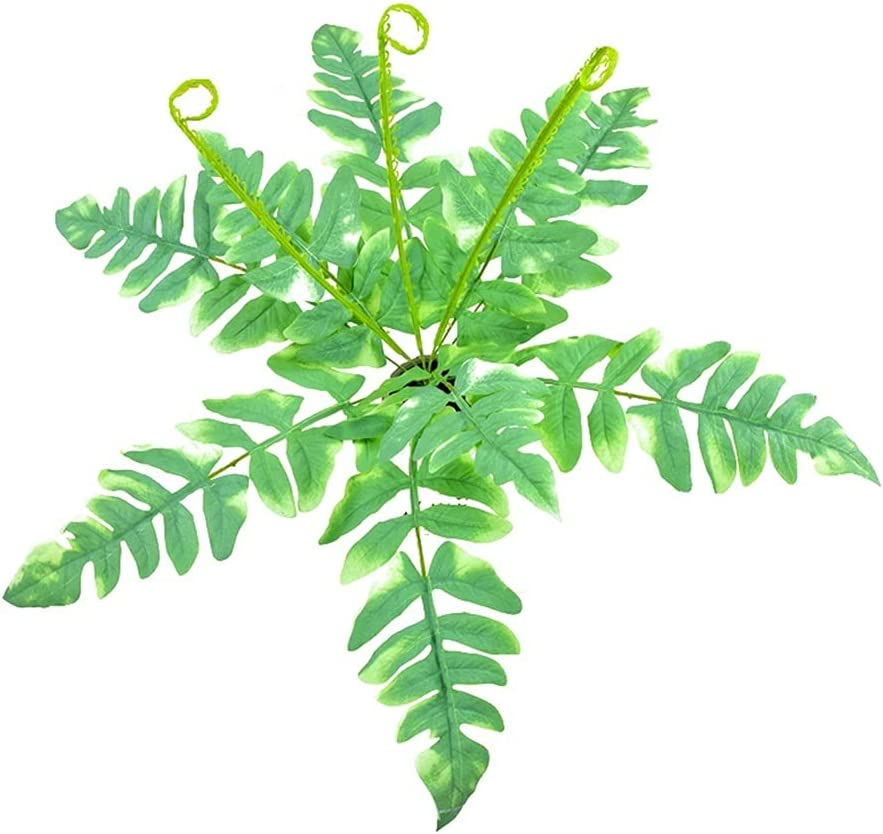 Yzhmm Artificial Plants 50cm Tropical Large Persian Genuine Miami Mall Artif Leaves