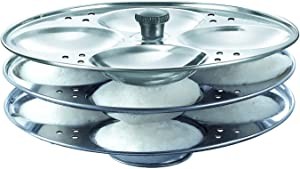 SNS 3 Rack Idli Stand, Stainless Steel Idli Maker Steamer Stand, Idli Plates Maker, Stainless Steel Idli Maker Kitchen Appliances