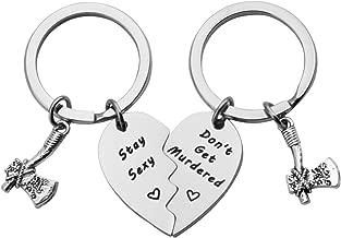 MYOSPARK Stay Sexy Don't Get Murdered Keychain Feminist Gift My Favorite Murder Keychain Murderino Gift