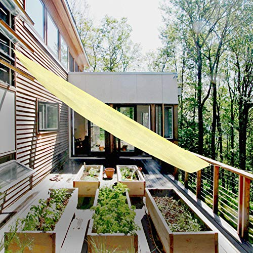 Vela De Sombra Rectangular Toldo Vela De Sombra, Vela Solar Con 8m Cuerda, Protección Rayos UV Lonas Impermeables Exterior Sombrilla Jardin Exterior Para Patio, Exteriores, Jardín - 4x1.6m