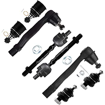 6pcs For 1996-1999 Isuzu Acura SLX Front Inner Outer Tie Rods Upper Ball Joint