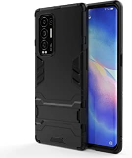 New Cell Phone Shell For OPPO Reno5 Pro+ PC + TPU Shockproof Protective Case with Holder Phone Cases
