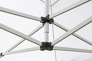 RAY BOT Tente Pliante 3x4.5 M en Acier et Polyester 350g/m² Tonnelle Pliante Chapiteau Barnum avec Les 4 côtés bâches (incluant Une Porte) - Blanc