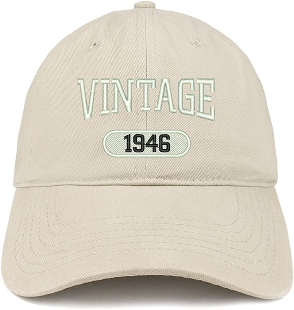 Trendy Apparel Shop 2021 Vintage 1946 Fresno Mall Birthday 75th Embroidered Relax