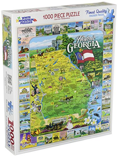White Mountain Historic Georgia Puzzle - 1000 Piece Jigsaw Puzzle