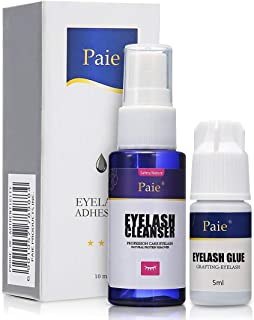 False Eyelashes Extension Practice Exercise Glue and Cleaner